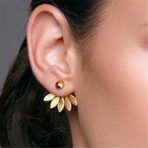 Flower Petal Jacket Stud Earring Gold or Silver